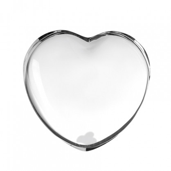 Schlichtes Glasherz 7 cm von LEONARDO Design. Dekoherz aus Glas - Modell EMOZIONE.