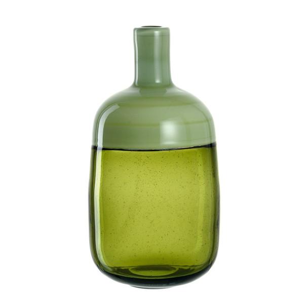 Die hochwertige, handgefertigte Vase LUCENTE lindgrün von LEONARDO. Grüne Flaschenvase aus Glas für Blumen und dekorative Äste, aber auch Solo ein echter Eyecatcher.