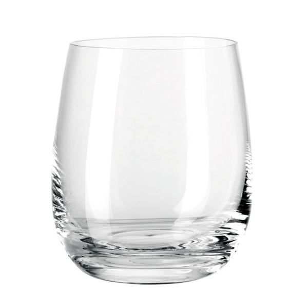 Transparentes Glas Windlicht / Trinkglas TIVOLI Glas bauchig 360 ml von Leonardo Design.