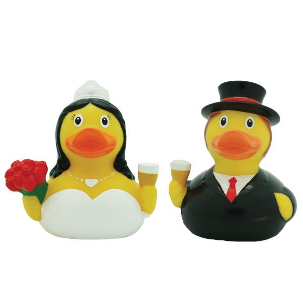 Badeenten Set Brautpaar / Hochzeitspaar Mini