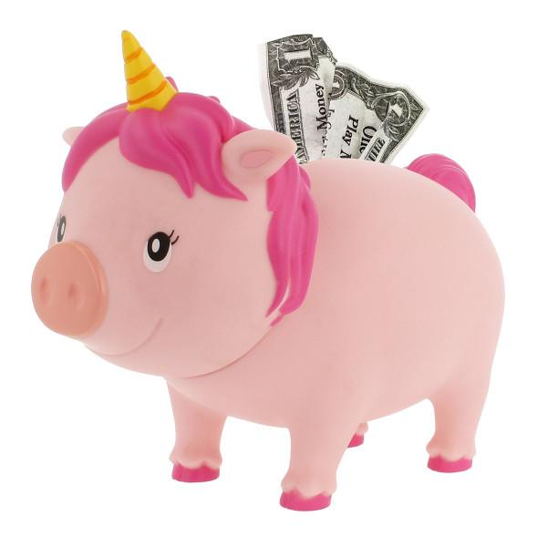 Sparschwein Einhorn pink - Sparschweine BIGGYS von LiLaLu - lustige Sparschweine - Spardose, Sparbüchse ... für Kinder und Erwachsene.