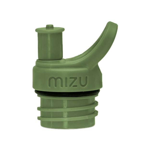 Olivegrüner Trinkflaschenverschluss Sport Cap army green. Macht aus Trinkflaschen von MIZU eine praktische Sporttrinkflasche mit Push & Pull Flaschenverschluss.