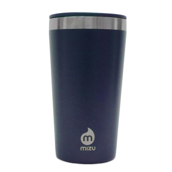 To go Trinkbecher T16 von MIZU: doppelwandiger Thermobecher 0,45 l aus Edelstahl in blau für Kaffee, Tee, Säfte und mehr.