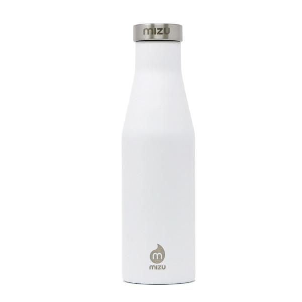 Thermosflasche Slim S4 Edelstahl 415 ml, Enduro weiß - Front.