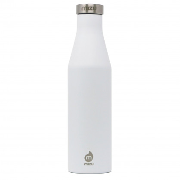 Thermosflasche Slim S6 Edelstahl 600 ml von MIZU, Enduro weiß - Front.