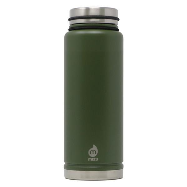 Thermosflasche V12 Edelstahl 1080ml Army green (Armee grün) von MIZU Design.