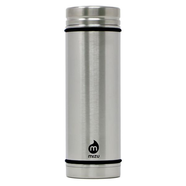Doppelwandige Thermosflasche V7 von MIZU Design. Isolierflasche aus Edelstahl. MIZU Edelstahltrinkflasche mit Trageschnur.