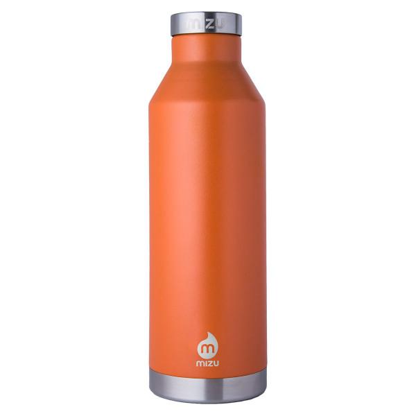 Doppelwandige Thermosflasche V8 von MIZU Design. Orange Isolierflasche aus Edelstahl. MIZU Edelstahltrinkflasche orange 750 ml.