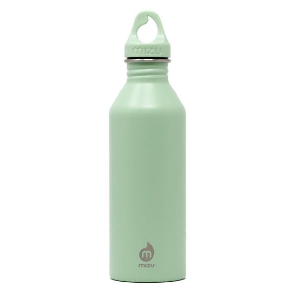 Enduro M8 von MIZU: lindgrüne Trinkflasche aus Edelstahl mit 750 ml Volumen. BPA-frei, geschmacks- und geruchsneutral. Edelstahlflasche mintgrün mit Schraubverschluss mit Tragering.