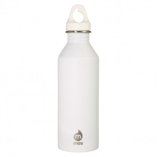 Edelstahl Trinkflasche M8 Enduro in weiß von MIZU Design.