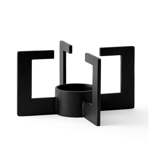 MENU Stövchen CAST Tea Heater aus Stahl in schwarz.