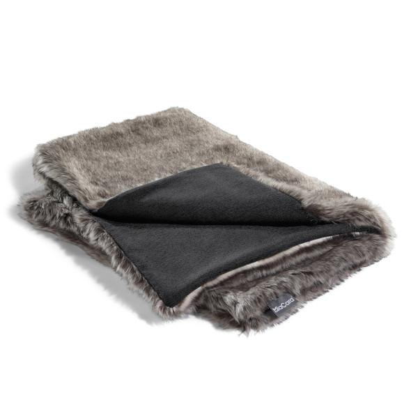 Hochwertige Design Hundedecke Felpa in grau von MiaCara