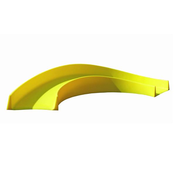 Minigolf Hindernis Kurve daytona von MyMinigolf. Mobile Minigolfbahn aus wetterbeständigen ABS Kunststoff in gelb. Minigolf Hindernisse.