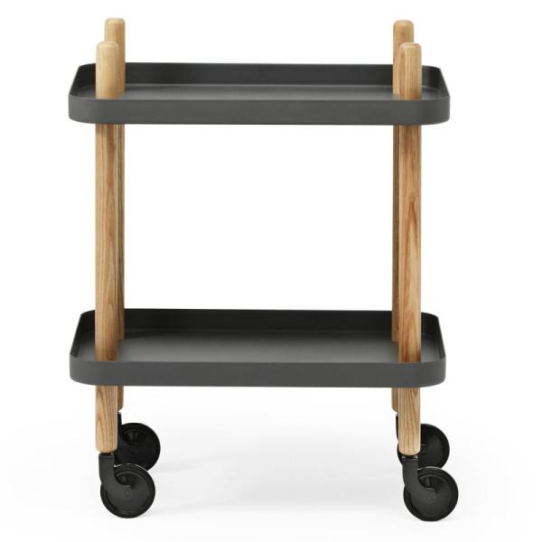 Servierwagen Block Table, dunkelgrau