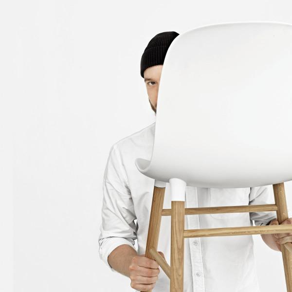 normann copenhagen stuhl form chair eiche weiss. Black Bedroom Furniture Sets. Home Design Ideas