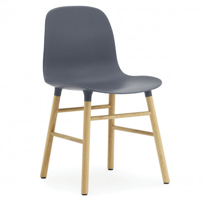 Stuhl Form Chair, Eiche/blau