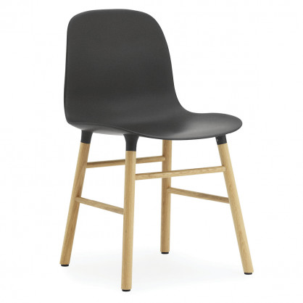 Stuhl Form Chair, Eiche/schwarz
