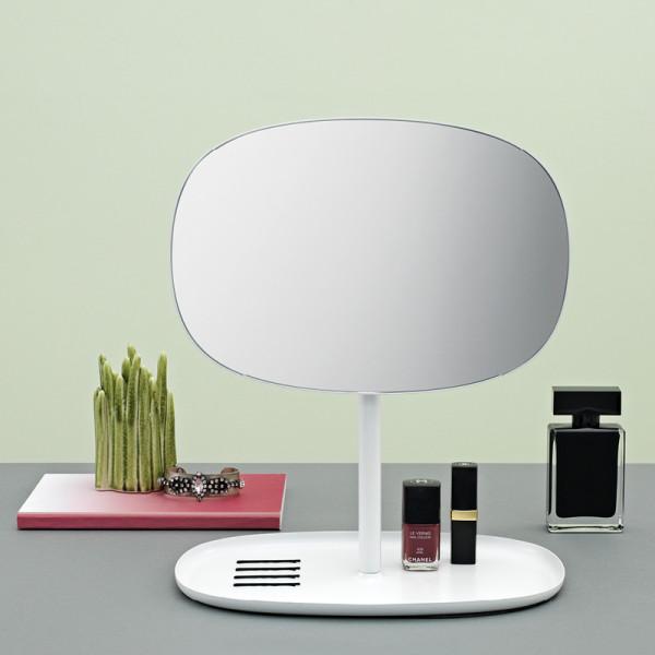 Tischspiegel mit Ablage Flip Mirror weiß