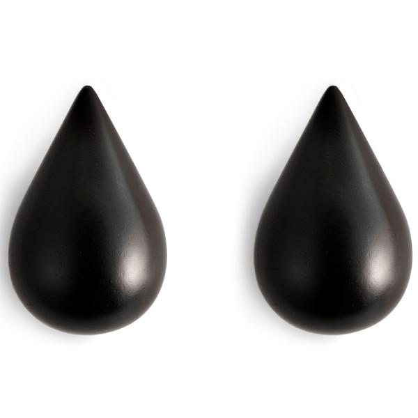 Wandhaken Dropit 2er-Set, large schwarz