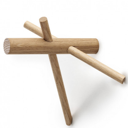 Wandhaken Sticks 2er-Set natur