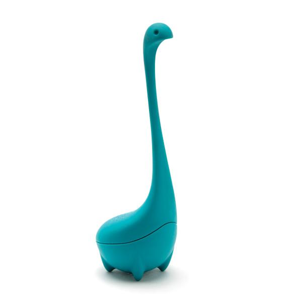 Tee-Ei BABY NESSIE von OTOTO Design. Teesieb Monster Nessie türkisblau.