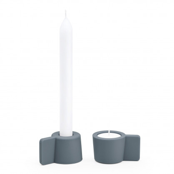 Kerzenständer / Teelichthalter Silly 2er-Set, dunkelgrau