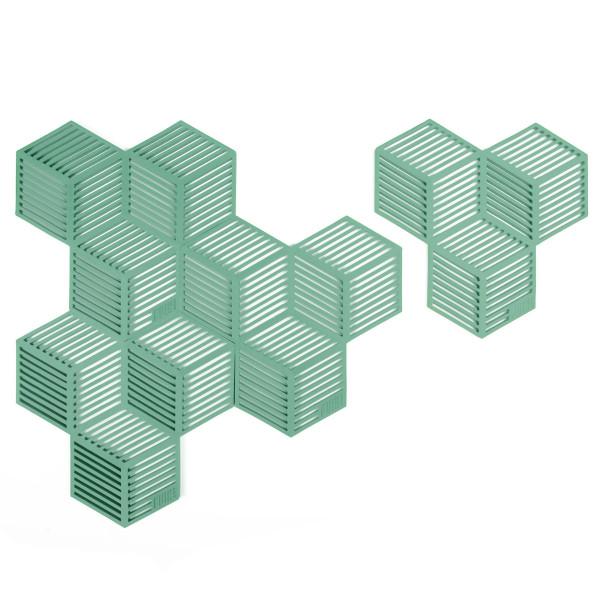 Glasuntersetzer / Topfuntersetzer Sico 4 Stück, grün
