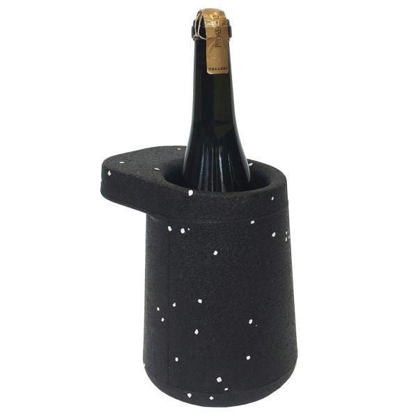 Weinkühler HAT Spots, schwarz-weiß