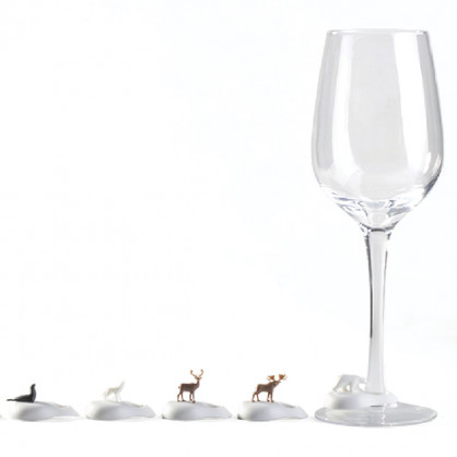 Glasmarker Cool Wine Animal, 6er-Set