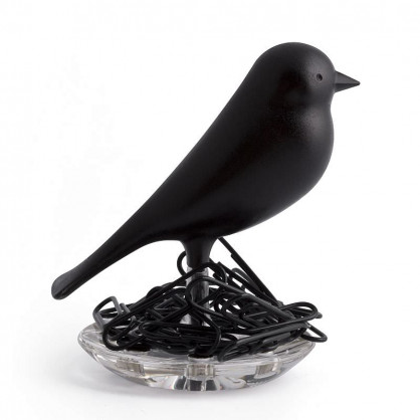 Magnethalter / Büroklammernhalter Nest Sparrow schwarz