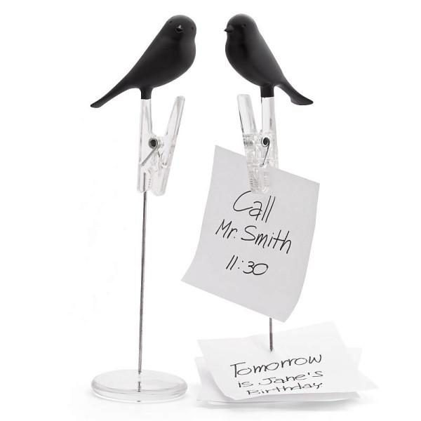 Notizhalter Spatz / Note Sparrow schwarz