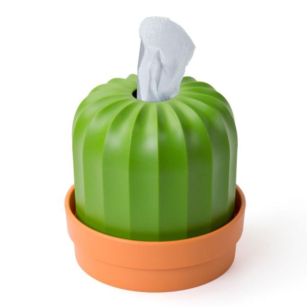Kaktus Papierspender, Toilettenpapierhalter, Blumentopf CACTISS von Qualy Design.
