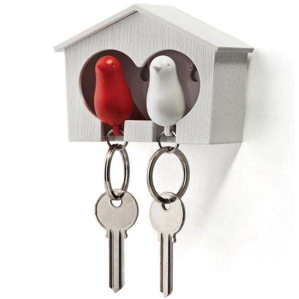 Schlüsselanhänger Duo Sparrow weiß/rot