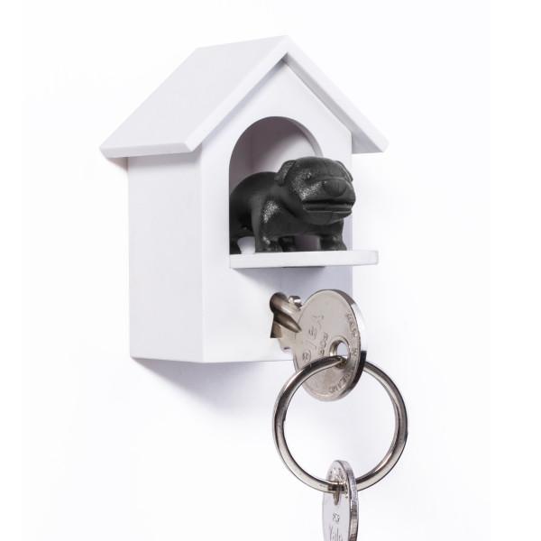WATCHDOG von Qualy Design! Schlüsselanhänger Hundehäuschen mit Wachhund schwarz. Design Schlüsselhalter.