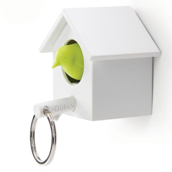 Schlüsselhalter mit Schlüsselanhänger Cuckoo, weiß/grün