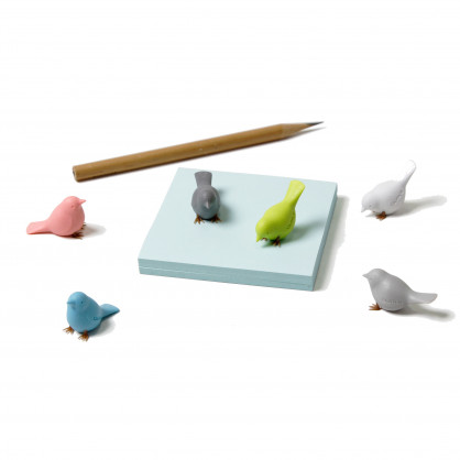 Vogel Magnet Mini Sparrow birds 6er-Set von Qualy Design.