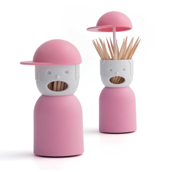 Picky Boy Zahnstocherspender in rosa von QUALY Design.