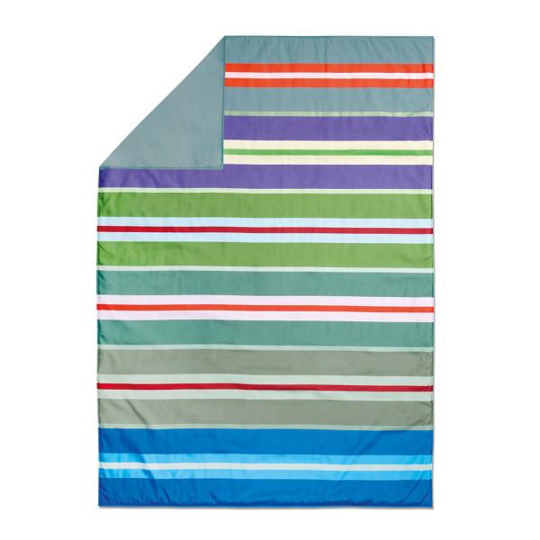 Bunt gestreifte Picknickdecke BRAVA - wasserabweisender Rückseite - Remember Design. ♥ Badedecke, Stranddecke, ...