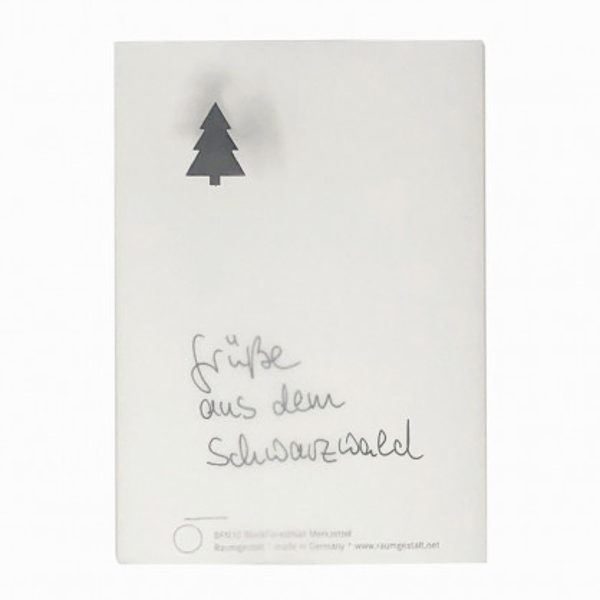XMAS BlackForestNail Notizblock auf Eichenklotz mit Tannenbaum-Nagel. Oh Tannenbaum Weihnachts-Merkzettel Block von Raumgestalt.
