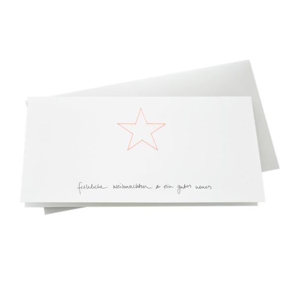 Weihnachtskarte / Sternenkarte - Fröhliche Weihnachten und ein gutes Neues