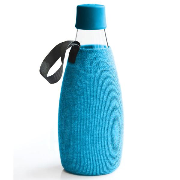 Hülle / Sleeve blau - für Trinkflasche 0,8l von Retap