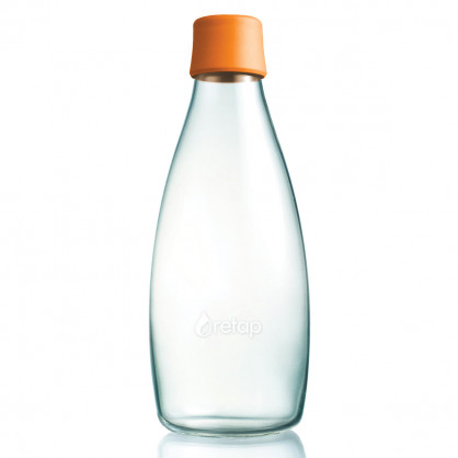 Trinkflasche 0,8l orange