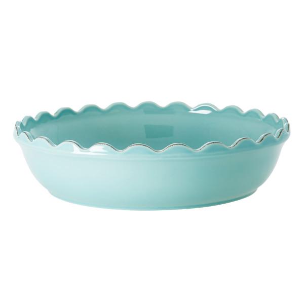 Auflaufform / Servierschale 33 cm Keramik, mint