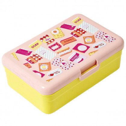 Lunchbox groß, Grocery Print yellow