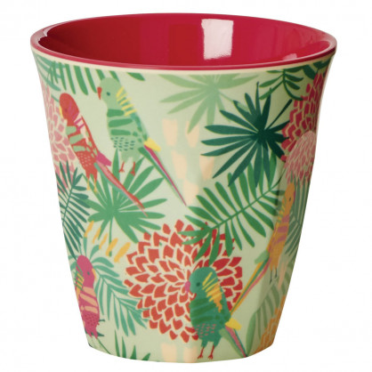 Becher aus Melamin von RICE - Tropical Papagei Print