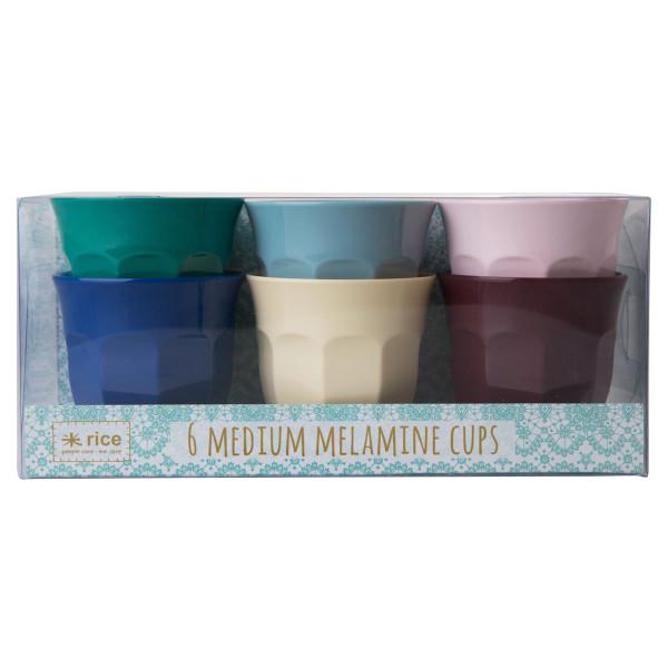 Bunte Becher von RICE - Set a 6 Stück - Becher aus Melamin - URBAN Color