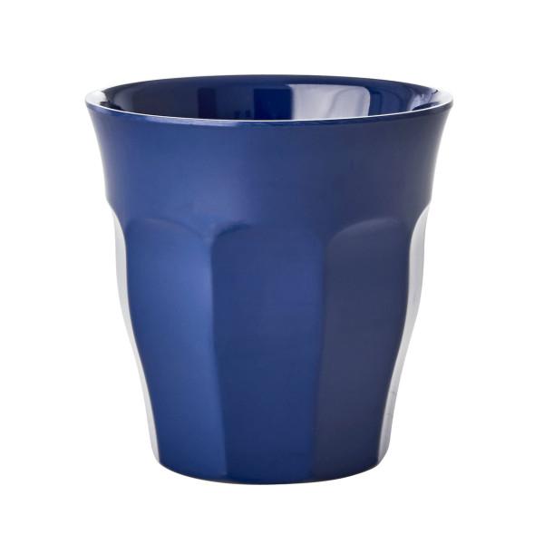 Kinderbecher RICE - Trinkbecher klein aus Melamin - Kunststoffbecher dunkelblau - Becher small MELCU dark blue - BPA-frei, robust, stapelbar, spülmaschinengeeignet - RICE Denmark
