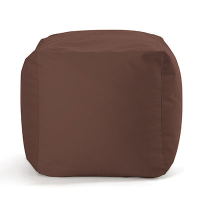 Sitzwürfel SQUARE BULL - Outdoor Hocker - Cube - Sitting Bull - Sunbrella Stoff braun - Sitzsack - Sitzkissen - Sitzhocker - Fußablage