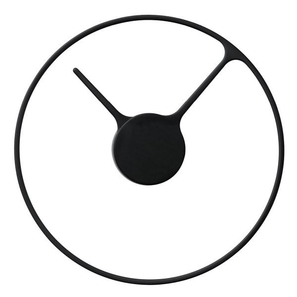 Time Wanduhr 30 cm schwarz