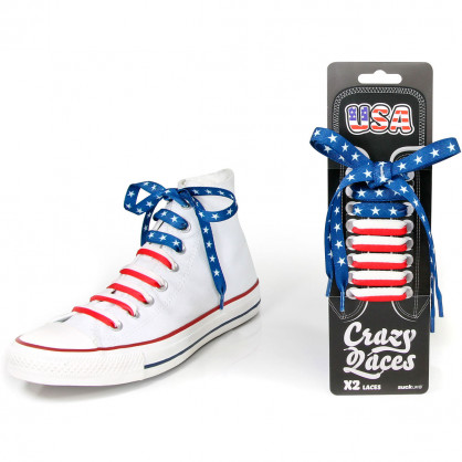 Schnürsenkel Crazy Laces USA - Stars & Stripes